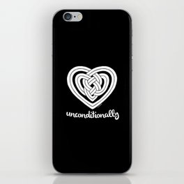 UNCONDITIONALLY in white iPhone Skin
