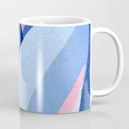 Fire and Ice II / Abstract Tropical Garden in Pink and Blue Coffee Mug