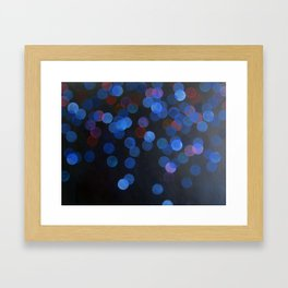 No. 45 - Print of Deep Blue Bokeh Inspired Modern Abstract Painting  Framed Art Print