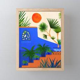 Southwest Summer Garden / Desert Landscape Framed Mini Art Print