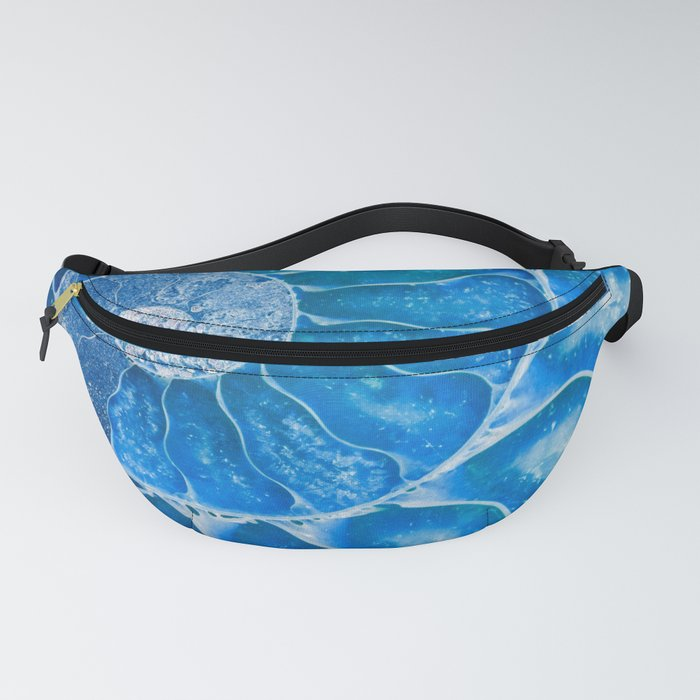 Blue colored Ammonite fossil Fanny Pack