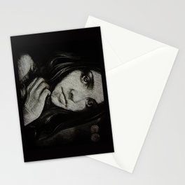 Charcoal experiment #5 Stationery Cards
