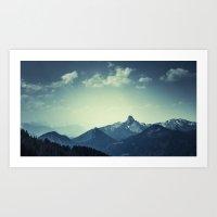 mountains Art Prints featuring Mountains by Koka Koala