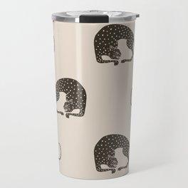 Blockprint Cheetah Travel Mug