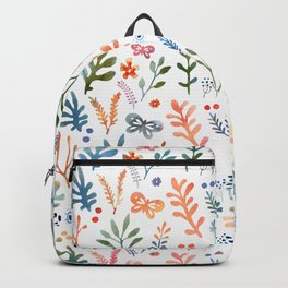 Rainbow Floral Pattern Backpack