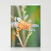 dragonfly Stationery Cards featuring Dragonfly by Lisa Argyropoulos