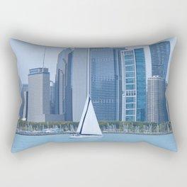 Sailing Past Chicago Rectangular Pillow