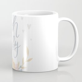 oh baby It's a girl Unicorns and flowers Coffee Mug