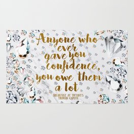 Breakfast at Tiffany's Quote Rug