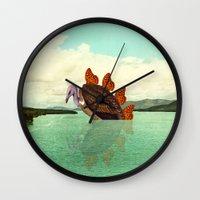 kaiju Wall Clocks featuring Kaiju Vulfly by Pairadactyl