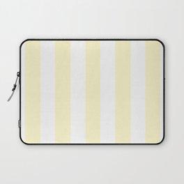 Lemon chiffon pink - solid color - white vertical lines pattern Laptop Sleeve