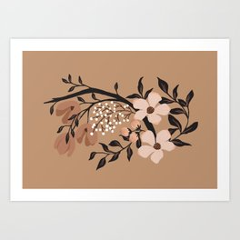 Nude Flowers Art Print