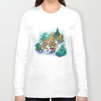 nordic Long Sleeve T-shirts featuring Nordic Kids on white by Lori Keehner