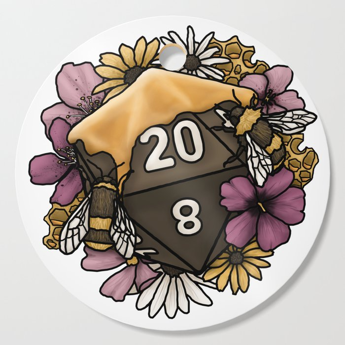 Honeycomb D20 Tabletop RPG Gaming Dice Cutting Board by sweetdelilahs