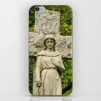 religious iPhone & iPod Skins featuring Religious Statue by Michael P. Moriarty