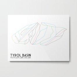 Tyrol Basin, WI - Minimalist Trail Art Metal Print