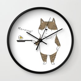 Morning Cat III Wall Clock