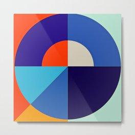 Modern Vibrant Geometric Pattern # 8 Circles and Squares Metal Print