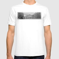 Winter's View of Roundtop MEDIUM Mens Fitted Tee White