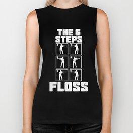 Floss Like A Boss Dance Flossing Dance Shirt Gift Idea The 6 steps Biker Tank