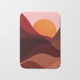 Abstraction_Mountains_SUNSET_Minimalism Bath Mat