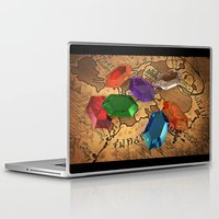 wallet Laptop & iPad Skins featuring Rupees by R-no71