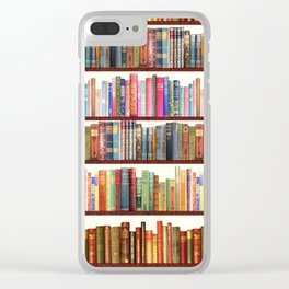 Jane Austen Vintage Book collection Clear iPhone Case