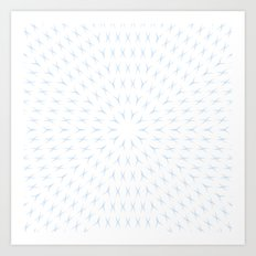 PCT2 Fractal in Ice Blue on White Art Print