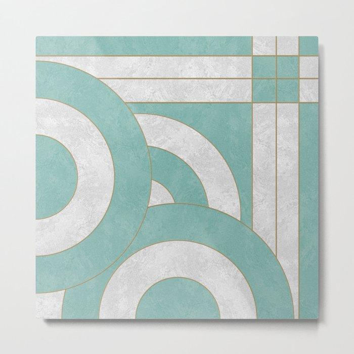 Geometric Marble 04 Metal Print