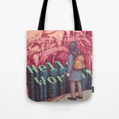 First line of the Earth Tote Bag