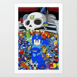Fight Mega Man, For Everlasting Peace! Art Print
