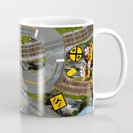 Mountain Roads Fun Street Map Collage Coffee Mug