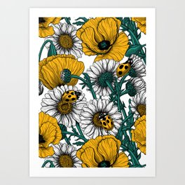 The meadow in yellow Art Print