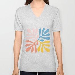 Matisse cutout -Abstract Modern Print, Unisex V-Neck