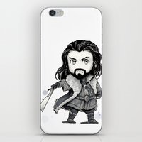 thorin iPhone & iPod Skins featuring Thorin Chibi by KuroCyou