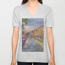 Painting Oil Realism Canvas Art Impressionism Landscape Painting Modern Office Decor Art Collection Unisex V-Neck