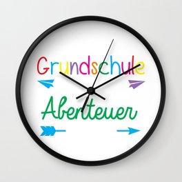 Preschool where the adventure starts, no kindergarden anymore Wall Clock
