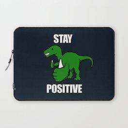 Stay Positive Iguanodon Laptop Sleeve