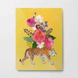 Tiger Bloom Metal Print