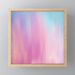 Abstract teal pink watercolor artistic brushstrokes Framed Mini Art Print