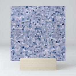 pastel blue crystal seastone print pattern Mini Art Print