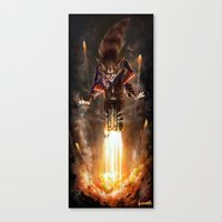 rocket raccoon Canvas Prints featuring Rocket Raccoon by James Bousema