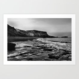 Saltwick Bay Art Print