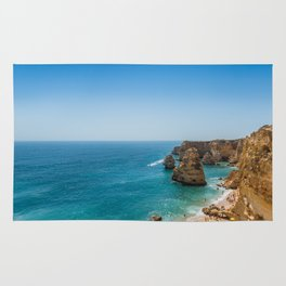 Beach at Lagoa, Algarve, Portugal Rug