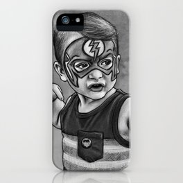 Sketch of Brandon at 3 Yrs Old iPhone Case