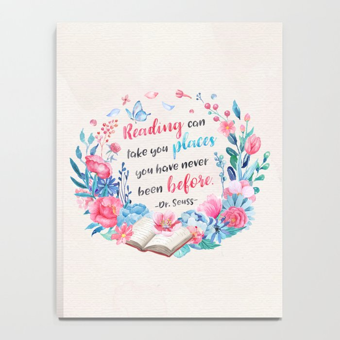 Reading can take you places Notebook