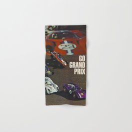 1970 Vintage Hot Wheels Redline Catalog Grand Prix poster Hand & Bath Towel