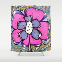 """Just Hangin' "" Flowerkid Shower Curtain"