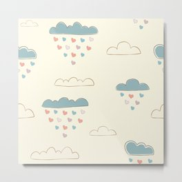 Paper Clouds Metal Print