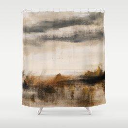 Steppe landscape Shower Curtain